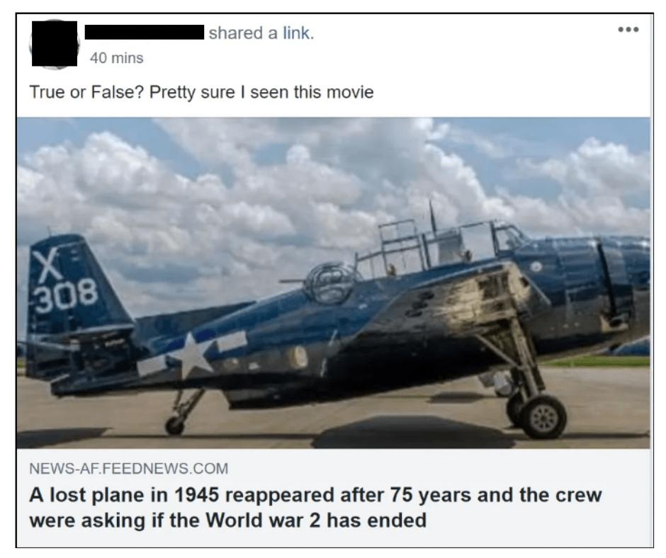 reaparece el avión militar