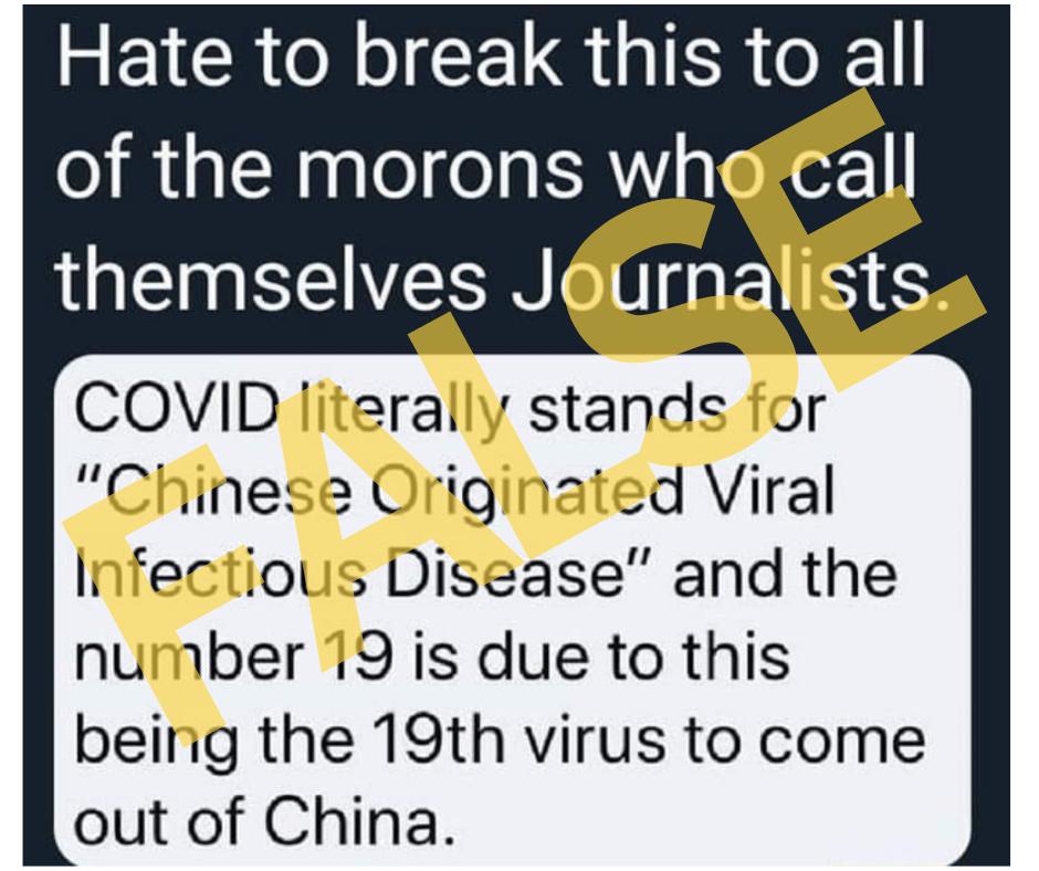 Covid significa enfermedad infecciosa viral originada en China