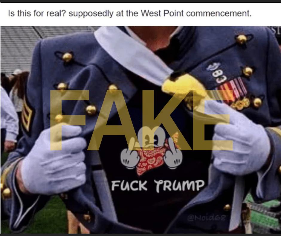 camisa de West Point Trump