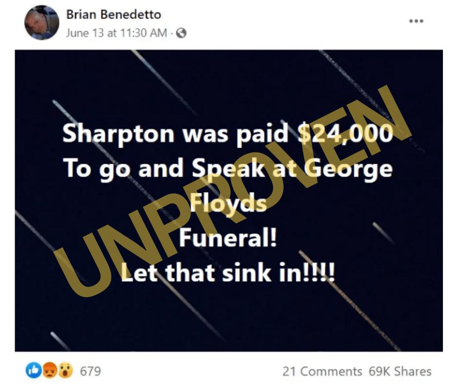 Al Sharpton pagó funeral