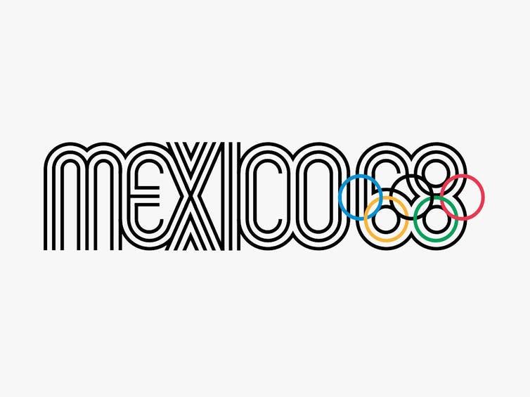 México 68 en texto.